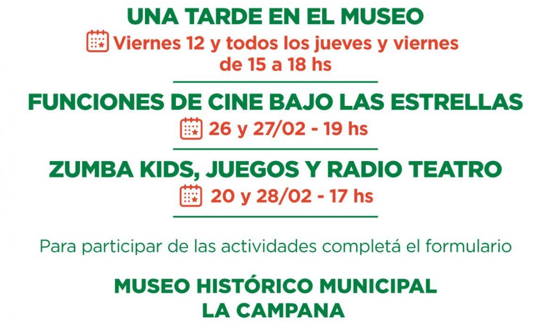 ACTIVIDADES RECREATIVAS Y CULTURALES EN EL MUSEO DE LA CAMPANA