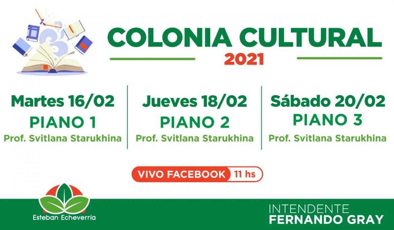 CONTINÚA LA COLONIA CULTURAL VIRTUAL CON CLASES DE PIANO