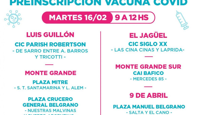 EL MUNICIPIO AVANZA CON LA PREINSCRIPCIÓN PARA LA VACUNA CONTRA EL COVID-19
