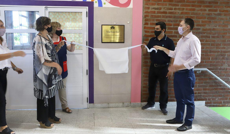 FERNANDO GRAY RECORRIÓ LAS NUEVAS INSTALACIONES DEL COLEGIO MAITÉN