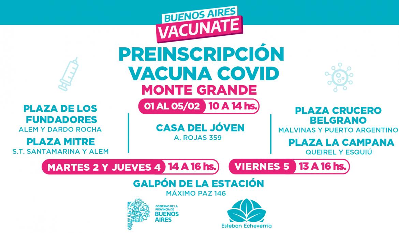 MÁS PUNTOS DE PREINSCRIPCIÓN PARA LA VACUNA CONTRA EL COVID-19