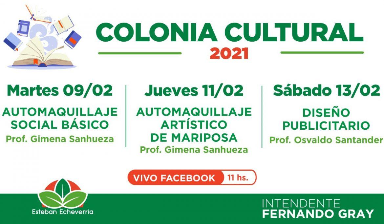 NUEVAS CLASES DE LA COLONIA CULTURAL VIRTUAL EN ESTEBAN ECHEVERRÍA