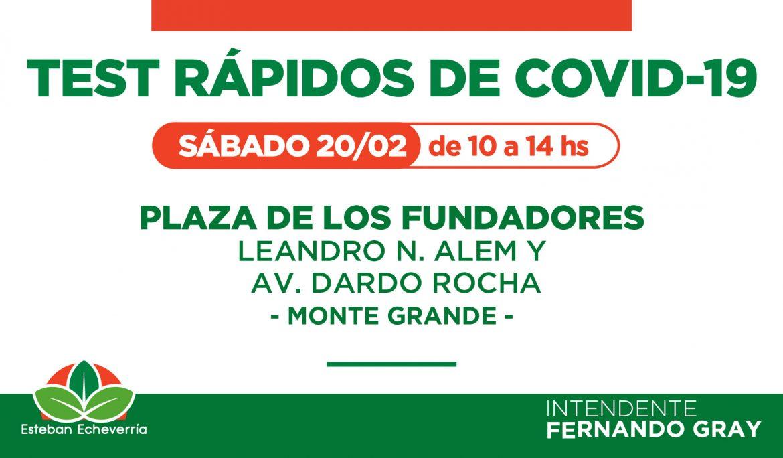 NUEVO OPERATIVO DE TESTEO RÁPIDO CONTRA EL COVID-19