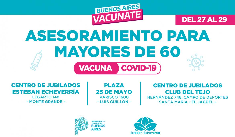 PREINSCRIPCIÓN DE MAYORES DE 60 AÑOS PARA LA VACUNA CONTRA EL COVID-19