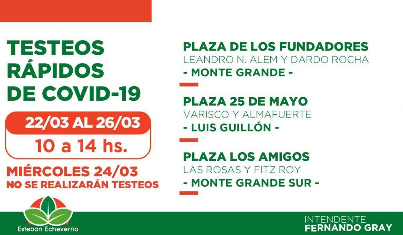 NUEVOS OPERATIVOS DE TESTEOS RÁPIDOS DE COVID-19