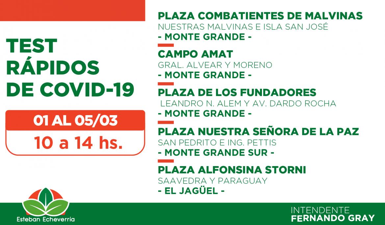 EL MUNICIPIO YA EFECTUÓ MÁS DE 8600 TESTEOS RÁPIDOS DE COVID-19