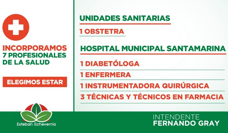 EL MUNICIPIO INCORPORÓ 7 NUEVOS PROFESIONALES DE LA SALUD