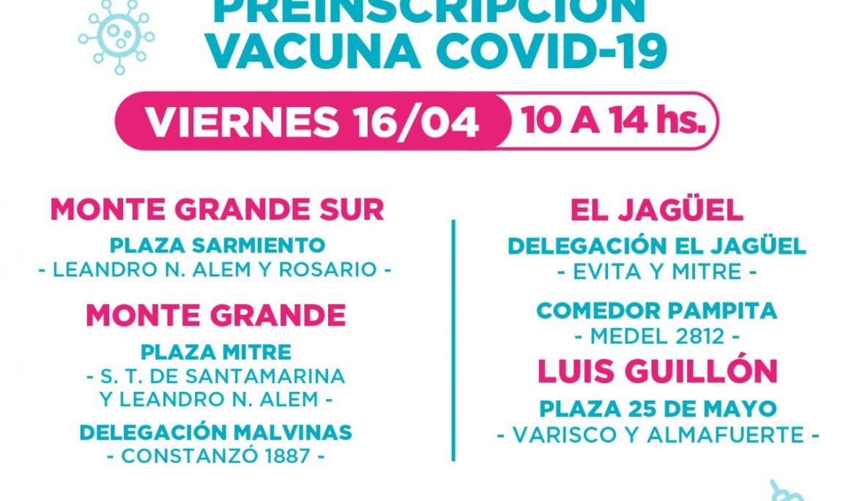 NUEVAS POSTAS DE PREINSCRIPCIÓN PARA LA VACUNA CONTRA EL COVID-19