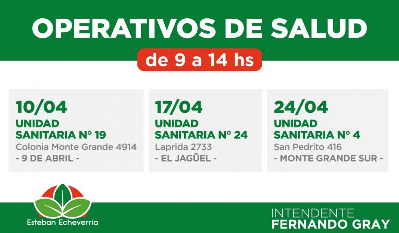 OPERATIVOS DE SALUD Y VACUNACIÓN PARA NIÑAS Y NIÑOS