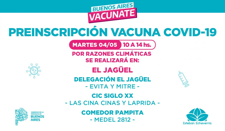 PREINSCRIPCIÓN PARA LA VACUNA CONTRA EL COVID-19