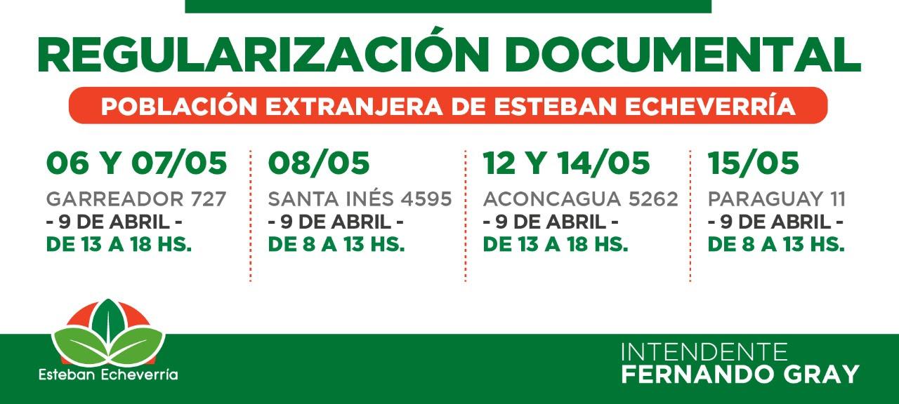 REGULARIZACIÓN DOCUMENTAL PARA RESIDENTES EXTRANJEROS EN 9 DE ABRIL