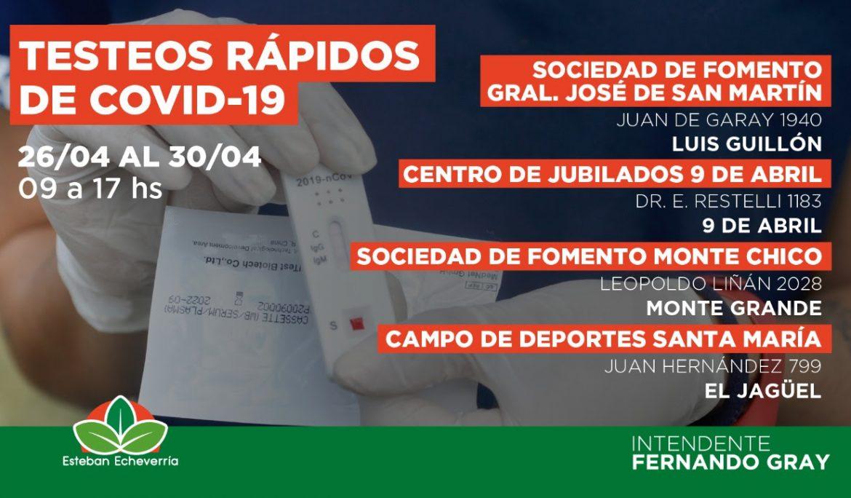YA SE REALIZARON MÁS DE 1800 PRUEBAS EN LOS NUEVOS CENTROS MUNICIPALES DE TESTEO