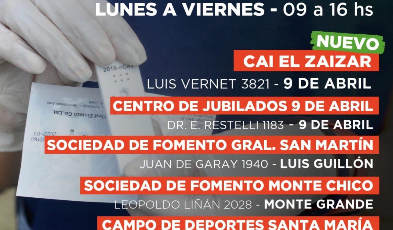 ESTEBAN ECHEVERRÍA ABRIÓ UN NUEVO CENTRO DE TESTEO EN 9 DE ABRIL