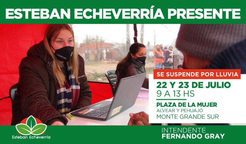 NUEVOS OPERATIVOS DE ESTEBAN ECHEVERRÍA PRESENTE EN MONTE GRANDE SUR