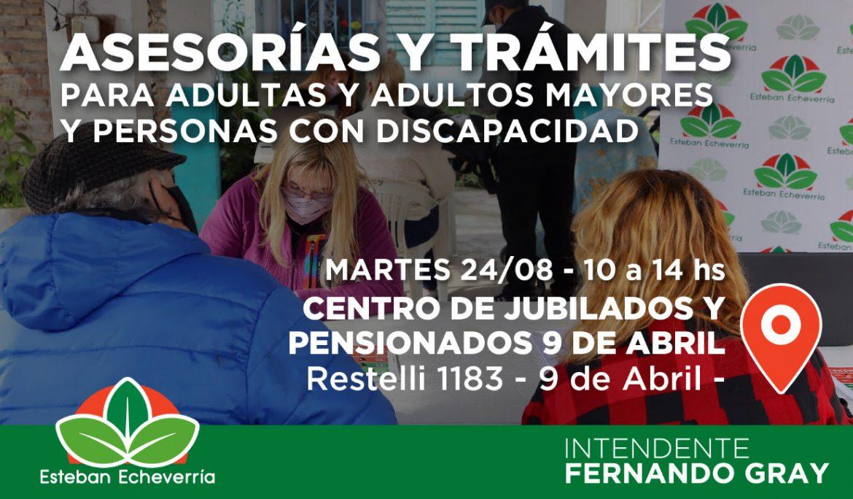 NUEVA JORNADA DE ASESORÍAS Y TRÁMITES EN 9 DE ABRIL