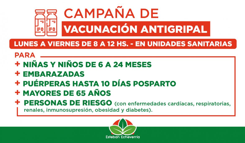 CONTINÚA LA CAMPAÑA DE VACUNACIÓN ANTIGRIPAL EN ESTEBAN ECHEVERRÍA