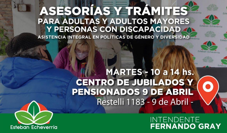 JORNADA DE ASESORAMIENTO Y TRÁMITES EN 9 DE ABRIL