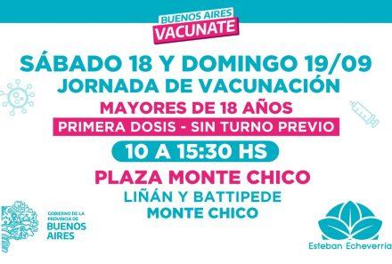 NUEVA JORNADA DE VACUNACIÓN CONTRA EL COVID-19 PARA MAYORES DE 18 AÑOS