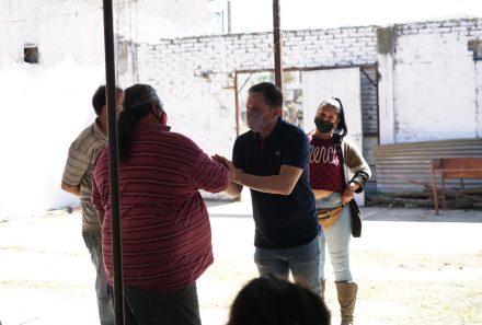 FERNANDO GRAY RECORRIÓ DURANTE TODA LA JORNADA DEL SÁBADO BARRIO GRANDE