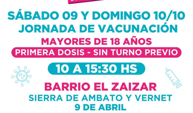 NUEVAS JORNADAS DE VACUNACIÓN CONTRA EL COVID-19 EN 9 DE ABRIL