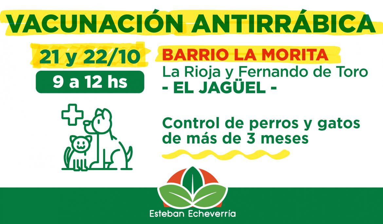 OPERATIVOS DE VACUNACIÓN ANTIRRÁBICA EN EL BARRIO LA MORITA