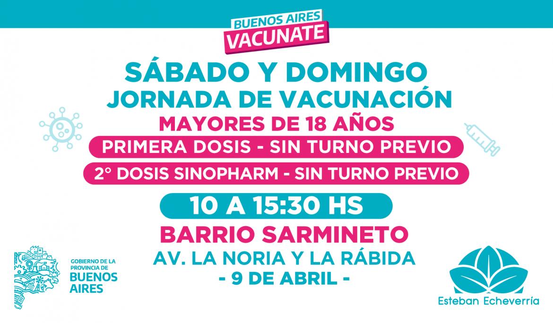 NUEVAS JORNADAS DE VACUNACIÓN LIBRE CONTRA EL COVID-19