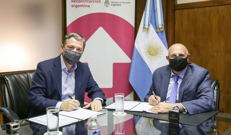 EL INTENDENTE FERNANDO GRAY Y EL MINISTRO DE TRANSPORTE ALEXIS GUERRERA FIRMARON CONVENIO DE CONSTRUCCIÓN DEL BAJO NIVEL ALVEAR-RONDEAU