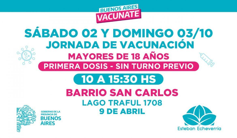 JORNADAS DE VACUNACIÓN CONTRA EL COVID-19 EN 9 DE ABRIL
